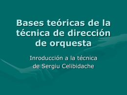 Bases teóricas de la técnica de dirección de
