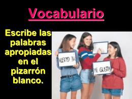 Vocabulario 1B