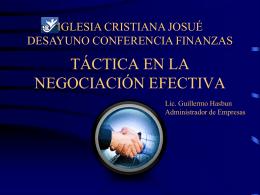 Técnicas Efectivas de Negociación