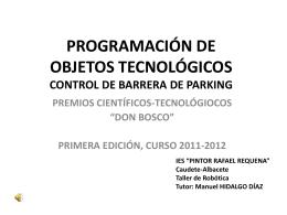 PROGRAMACIÓN DE OBJETOS TECNOLÓGICOS CONTROL DE