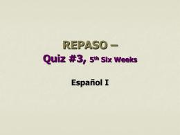REPASO para Quiz #3