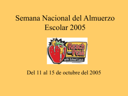 National School Lunch Week 2004