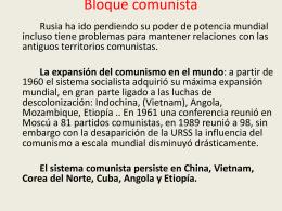 Bloque comunista - isabelperez