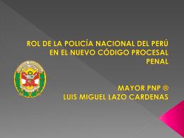 ROL DE LA POLICIA NACIONAL DEL PERU EN EL NUEVO