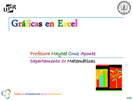 Gráficas en Excell - Dept. de Matemáticas UPRH