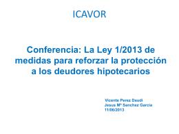 Ley 1/2013 - Il·lustre Col·legi d`Advocats de