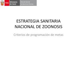 ESTRATEGIA SANITARIA NACIONAL DE ZOONOSIS