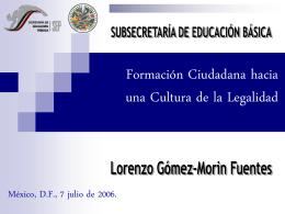 Formación Democrática y Ambiente Escolar
