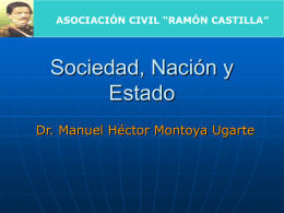 Sociedad, Nación y Estado