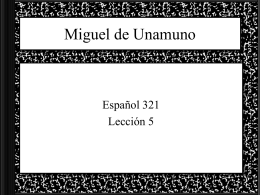 Miguel de Unamuno - UW Faculty Web Server