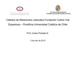 Premio Carlos Vial Espantoso 2006 Informe Técnico