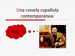 Una novela española contemporánea: