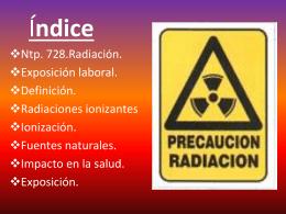 EXPOSICION LABORALA RADIACION NATURAL