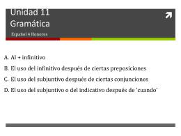 Unidad 11 Gramática