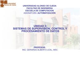 Diapositiva 1 - Ing. Gerardo Alberto Leal, MSc |