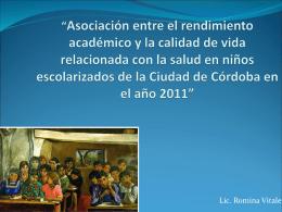 Asociación entre el rendimiento académico y la