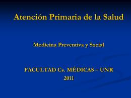 POSGRADO EN SALUD SOCIAL Y COMUNITARIA PROGRAMA