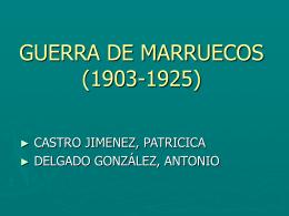 GUERRA DE MARRUECOS - Claseshistoria. Espacio