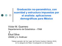GraduaciónNoParamétrica&Estructurada