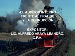 EL AUDITOR INTERNO FRENTE AL FRAUDE Y LA