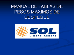 MANUAL DE TABLAS DE PESOS MAXIMOS DE DESPEGUE