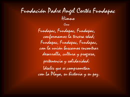 Himno de FUNDAPAC Letra y música de Alonso