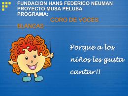 FUNDACION HANS FEDERICO NEUMAN PROYECTO MUSA