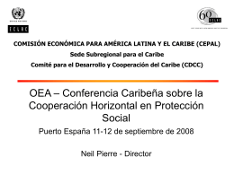 OAS - Caribbean Conference on Horizontal