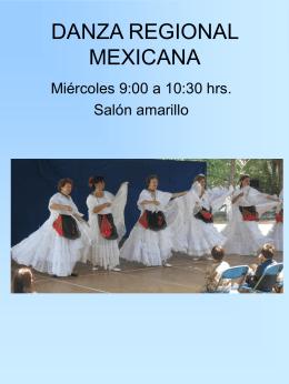 DANZA REGIONAL MEXICANA