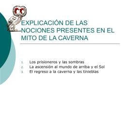 EXPLICACIÓN DE LAS NOCIONES PRESENTES EN EL MITO