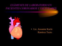 EXÁMENES DE LABORATORIO EN PACIENTES CORONARIOS Y