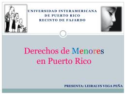 Derechos de Menores en Puerto Rico