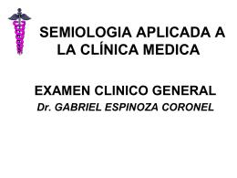 I CURSO DE SEMIOLOGIA APLICADA A LA CLÍNICA MEDICA