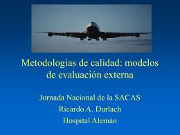 Metodologías de calidad: modelos de evaluación