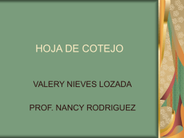 HOJA DE COTEJO - Valery29`s Weblog | Just another