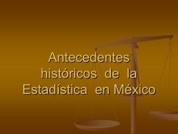 Antecedentes históricos de la Estadística