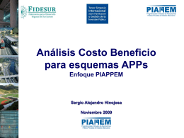 El enfoque de costo beneficio para proyectos APPs