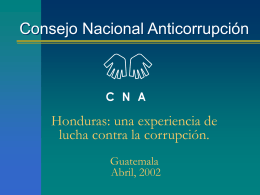 Encuesta Nacional sobre la Corrupción en Honduras