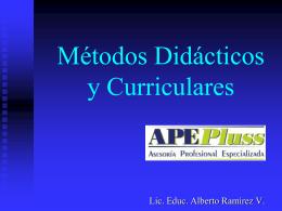 Métodos Didácticos y Curriculares