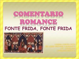 COMENTARIO ROMANCE FONTE FRIDA, FONTE FRIDA