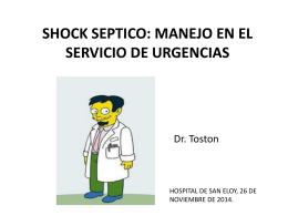 SHOCK SEPTICO - URGENCIAS SAN ELOY