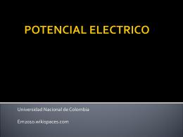 POTENCIAL ELECTRICO - em2010
