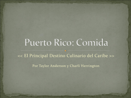 Puerto Rico: Comida