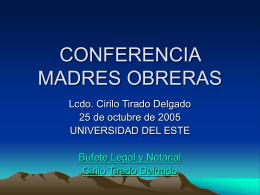 CONFERENCIA MADRES OBRERAS