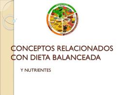 CONCEPTOS RELACIONADOS CON DIETA BALANCEADA