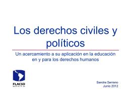 Los derechos civiles y políticos