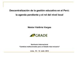 Diapositiva 1 - GRADE | Grupo de Análisis para el