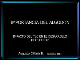 IMPORTANCIA DEL ALGODÓN