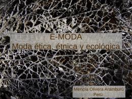 E-MODA Moda ética, étnica y ecológica