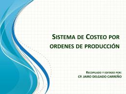 Sistema de Costeo porordenes de producción